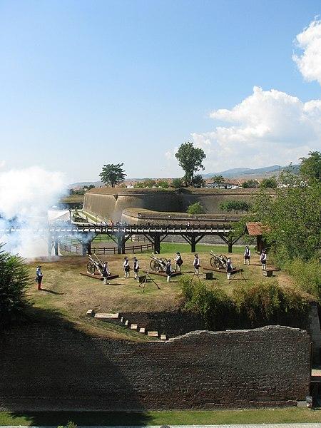 File:Alba Carolina Fortress 2011 - Cannon Fire jpg - Wikimedia Commons