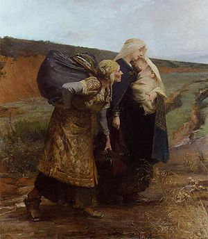 Audovera - Painting of Audovera's repudiation by Albert Maignan.