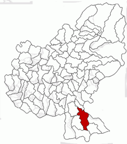 Location of Albeşti