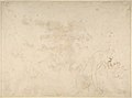 Alcibiades Interrupting the Symposium; verso- Sketches of the Baptism of Christ and of a Man MET DP802377.jpg