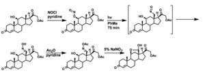 Barton reaction - A Barton Reaction in the synthesis of aldosterone acetate