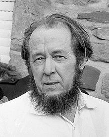 Aleksandr Solzhenitsyn in February 1974