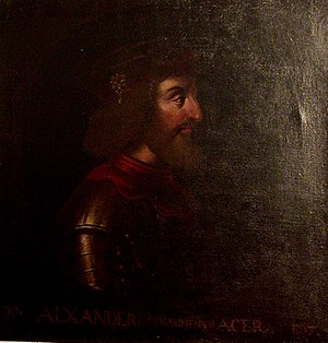 Alexander I of Scotland - Image: Alexander I of Scotland (Holyrood)