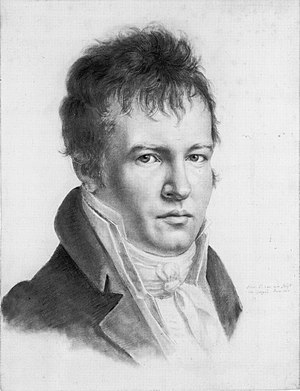 "Phytogeography - An 1814 self-portrait in Paris of Alexander von Humboldt. Humboldt is often referred to as the ""father of phytogeography""."