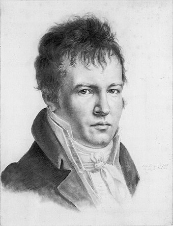Alexander von Humboldt, considered to be the founding father of physical geography. Alexander von Humboldt-selfportrait.jpg
