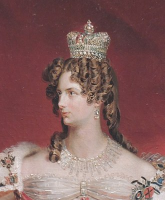 Alexandra Feodorovna (Charlotte of Prussia) - Empress Alexandra Feodorovna by George Dawe, 1826