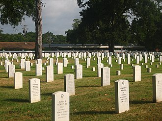 National Register of Historic Places listings in Rapides Parish, Louisiana - Image: Alexandria National Cemetery IMG 1110