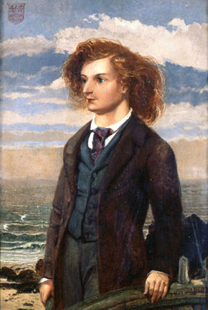 Painting of a young Algernon Charles Swinburne...