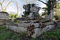 All Hallows Church Tottenham Haringey England - churchyard sarcophagus-style monument.jpg