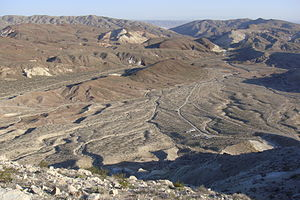 Alluvial plain - A small, incised alluvial plain from Red Rock Canyon State Park (California).