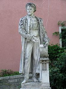 Das Alois-Senefelder-Denkmal in der Ortsmitte von Solnhofen (Quelle: Wikimedia)