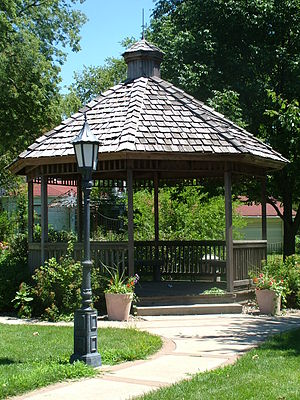 Alpha, Illinois - The Alpha Gazebo is a community landmark located at the intersection of U.S. Route 150 and D Street.