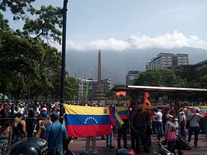 Mother of All Marches - Altamira Square, one of the meeting points of the 19 April 2017 march.