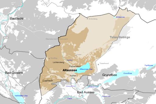 Altaussee Ortschaften und Umgebung