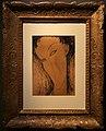 Amedeo modigliani, testa femminile, 1916, china e nero carbone acquarellato.jpg