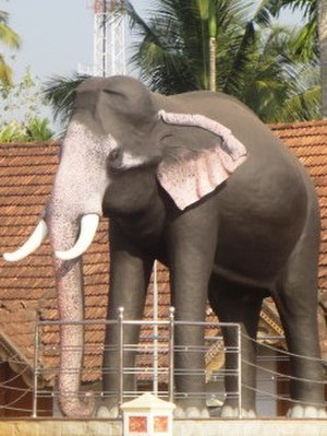 Ambalappuzha - Elephant called Ambalappuzha Ramachandran is famous