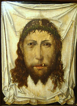 Fernando Gallego - Holy Face,  attributed to a 15th-century Flemish or Spanish painter. Paul Coremans believes the author is Fernando Gallego.