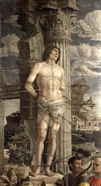 Andrea Mantegna - St. Sebastian, 1480; panel; Musée du Louvre