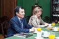 Andrejs Klementjevs tiekas ar Kirgizstānas Revīzijas palātas priekšsēdētāju (5776192724).jpg