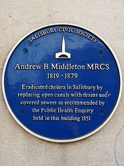 Andrew b middleton mrcs plaque