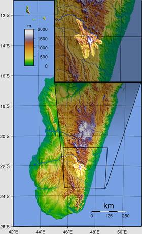 Carte de localisation du massif.