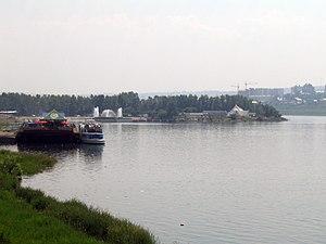 Angara River - Angara River at Irkutsk