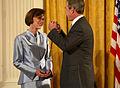 Ann Graybiel & GW Bush 2001.jpg