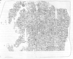 Annals of Amenemhat II - Drawing of the bigger fragment