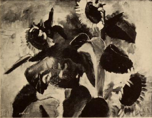 Annot (artist) - Black and white photograph of Sunflowers, 1929, by Annot