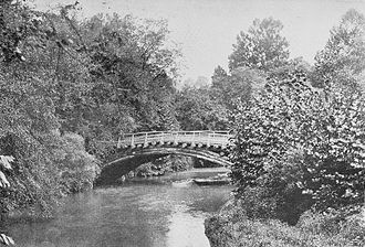 National Zoological Park (United States) - Bridge at National Zoological Park, 1897