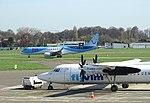 Antwerp JetAirFly ERJ Embraer 190STD OO-JEB VLM Fokker F50 OO-VLI 03.jpg