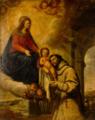 Aparición de la Virgen y el Niño a San Antonio de Padua, del círculo de Francisco Rizi (Museo Cerralbo, Madrid).png