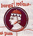 Arbor genealogiae regum Francorum - Besançon ms854 f8 Robert le Fort.jpg