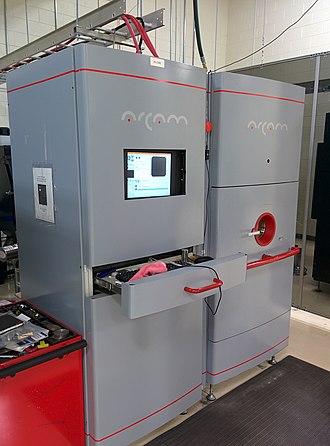 Electron-beam additive manufacturing - Image: Arcam S12