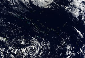 Tuamotus - Satellite image of Tuamotus