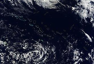 Tuamotus - Satellite image of Tuamotus