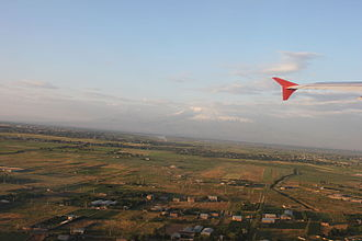 Armavir Province - Aerial view of Ararat plain in the Armavir region