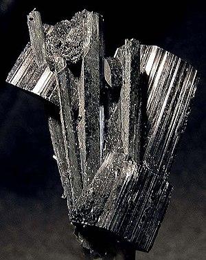 Arfvedsonite - Arfvedsonite, Poudrette quarry, Mont Saint-Hilaire,  Montérégie, Quebec