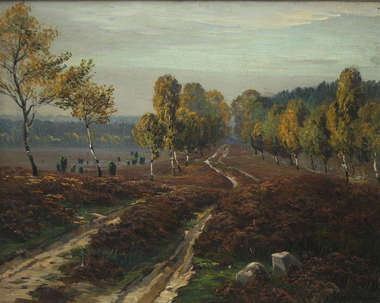 Datei:Arnold Lyongrün Weg in der Lüneburger Heide.jpg
