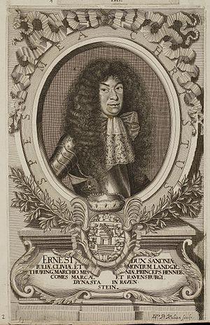Ernest, Duke of Saxe-Hildburghausen - Image: Arolsen Klebeband 01 175 2