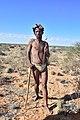 Arri Raats, Kalahari Khomani San Bushman, Boesmansrus camp, Northern Cape, South Africa (19921875553).jpg