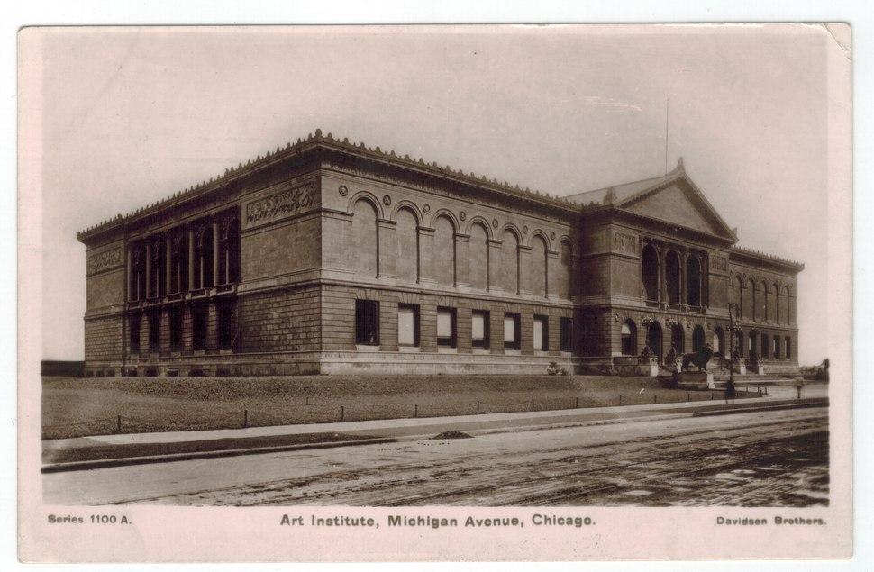 Art Institute, Chicago circa 1907 postcard (front).tiff