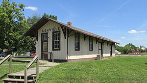 National Register of Historic Places listings in Pickaway County, Ohio - Image: Ashville OH18