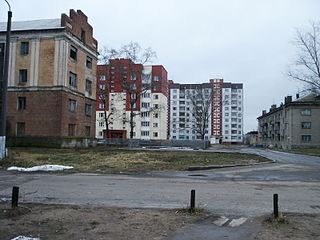 Asipovichy Place in Mahilyow, Belarus