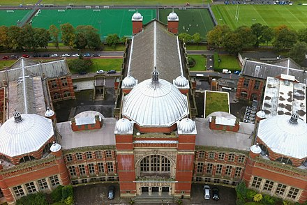 Playing fields from the Clock Tower Aston Webb from UOB Clock Tower.JPG
