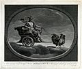 Astronomy; Mercury with his caduceus, in his chariot, drawn Wellcome V0024879.jpg