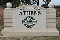Athens welcome sign