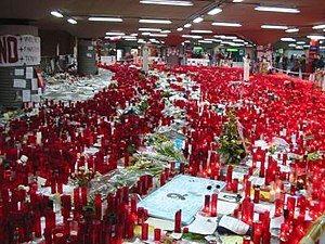 Terrorism in Europe - Image: Atocha Station makeshift shrine march 2004