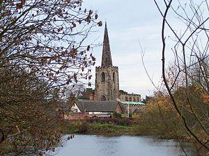 Attenborough, Nottinghamshire - Image: Attenborough parish church