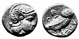 Sophytes - Image: Attic drachm Athena type Middle East 4th century BCE